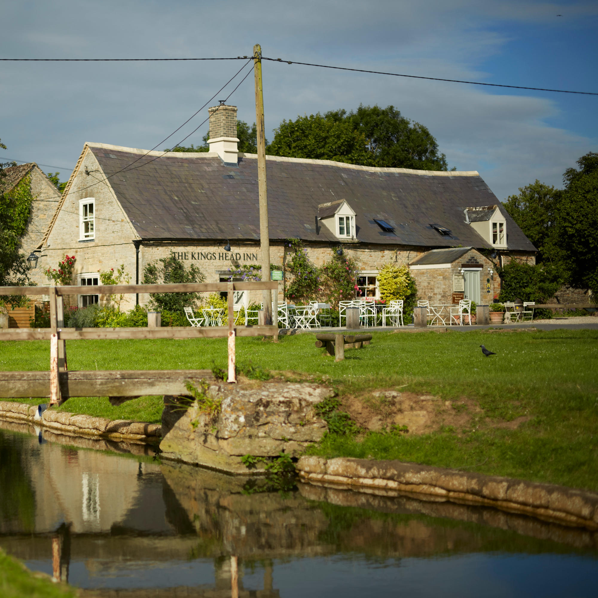 The King's Head Inn overlooks Bledinton village green in The Cotswolds
