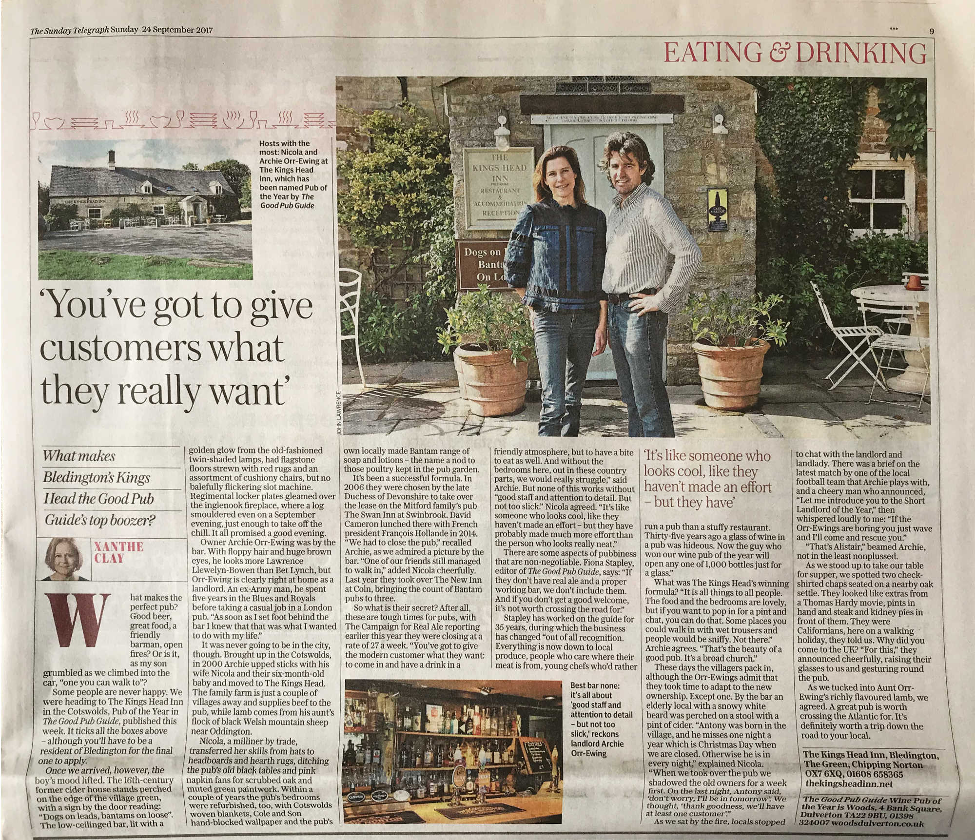 Sunday Telegraph Article
