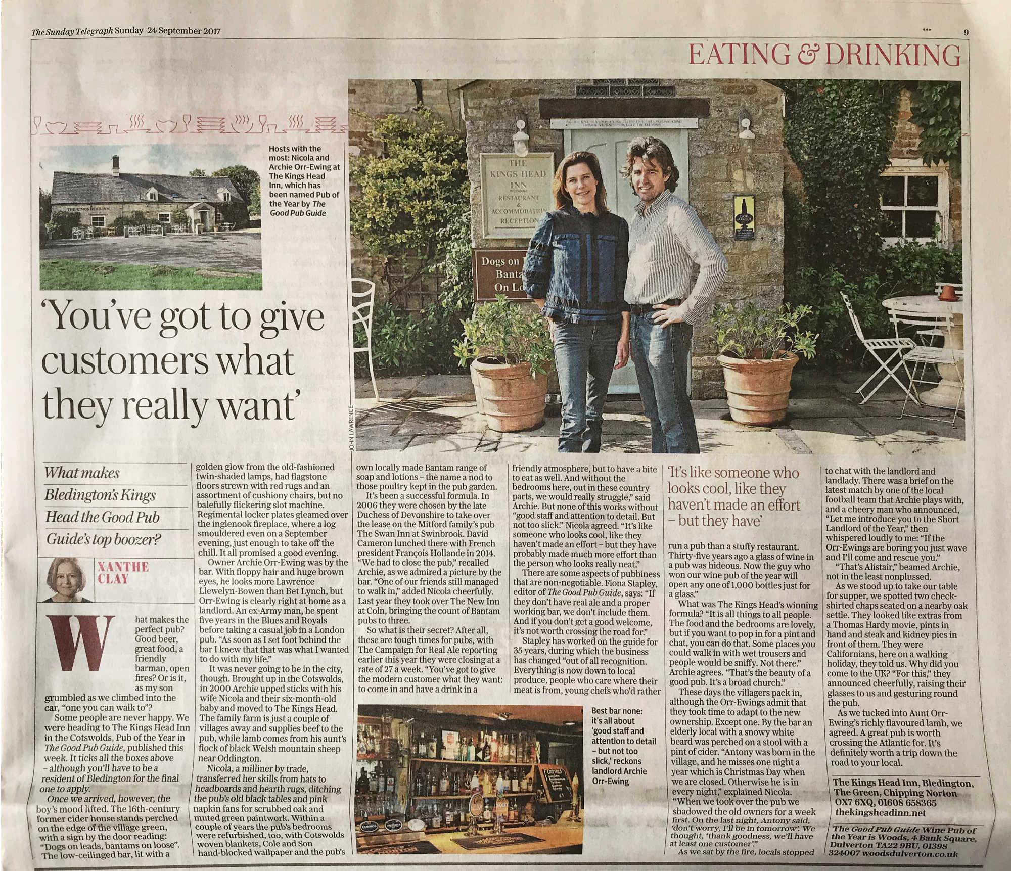 Sunday Telegraph Article